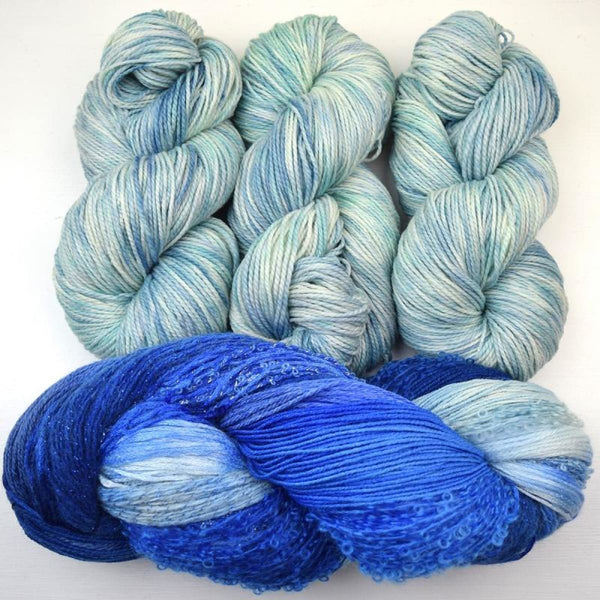 Arabella Stunning Shawl - Foaming Sea - Knitting Kit