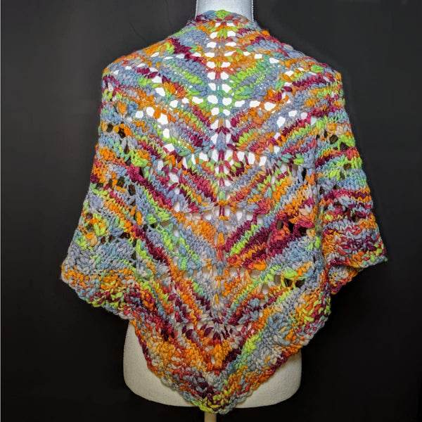 Diamond Flame Shawl - Knitting Kit