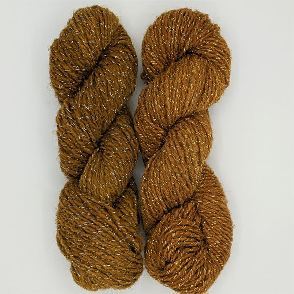 DK Weight - Merino Glitter Mini Skeins - #13 Medium Brown 2 Pack - YARN