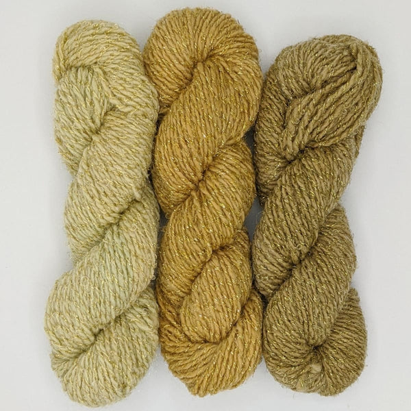 DK Weight - Merino Glitter Mini Skeins - #15 Fade Cream 3 Pack - YARN