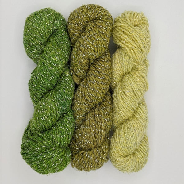 DK Weight - Merino Glitter Mini Skeins - #16 Fade Green 3 Pack - YARN