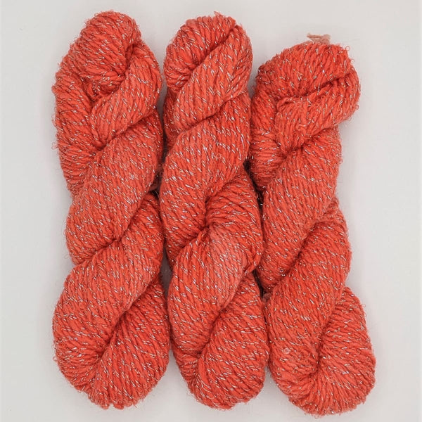 DK Weight - Merino Glitter Mini Skeins - #3 Orange 3 Pack - YARN