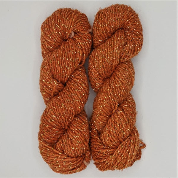DK Weight - Merino Glitter Mini Skeins - #6 Burnt Orange 2 Pack - YARN