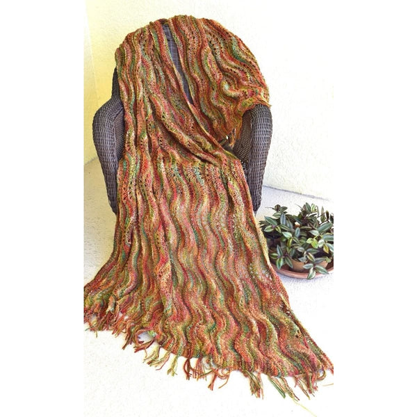 Feather & Fan Blanket - Knitting Kit