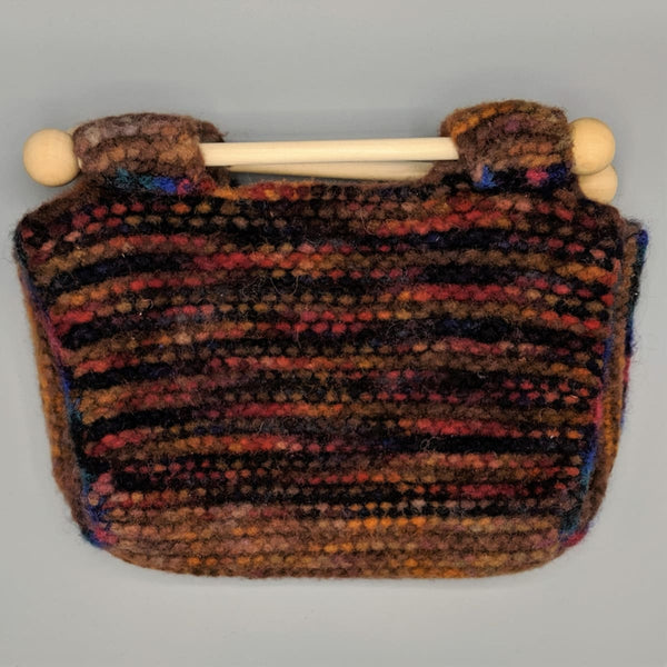 Felted Purse - Knitted Sample - 13 - Handmade