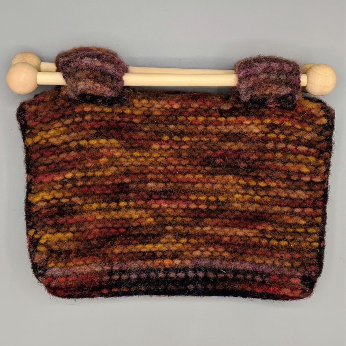 Felted Purse - Knitted Sample - 3 - Handmade