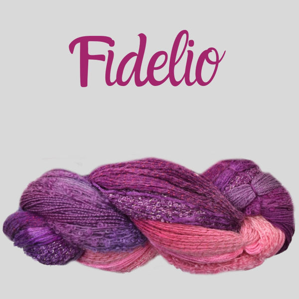 Half Pi Crescent Shawl & Glitter Shrug - Fidelio - Knitting Kit