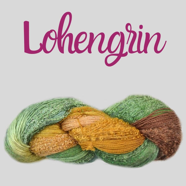 Half Pi Crescent Shawl & Glitter Shrug - Lohengrin - Knitting Kit