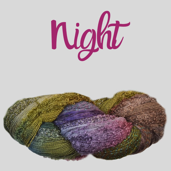 Half Pi Crescent Shawl & Glitter Shrug - Night - Knitting Kit