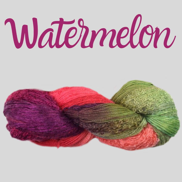 Half Pi Crescent Shawl & Glitter Shrug - Watermelon - Knitting Kit