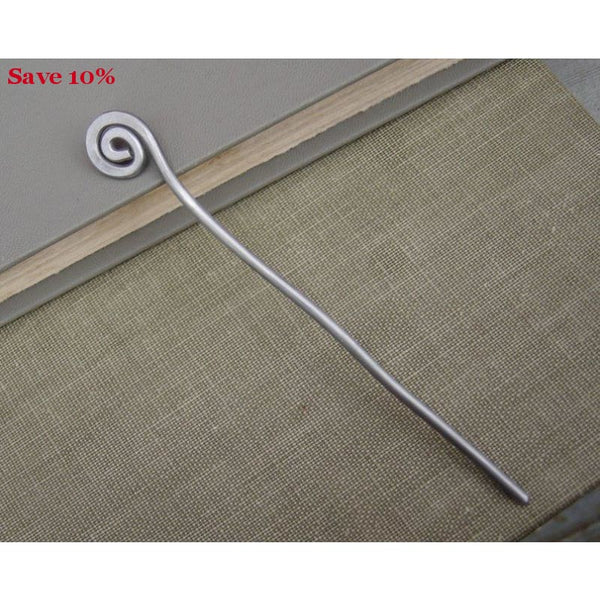 Handmade Simple Spiral Shawl Pin - Accessory