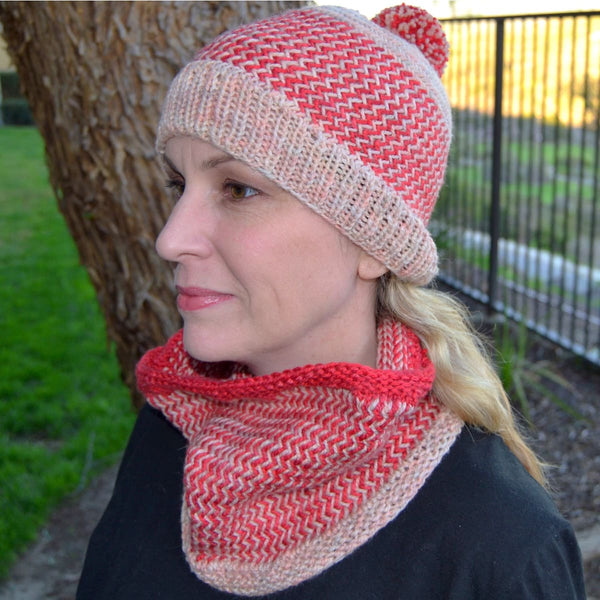 Herringbone Hat & Cowl - Knitting Kit