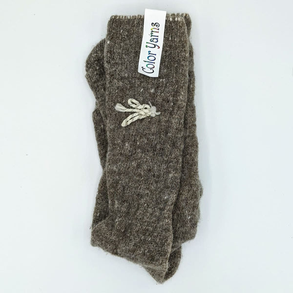 Ladies Socks - Machine Knit - Brown - Handmade