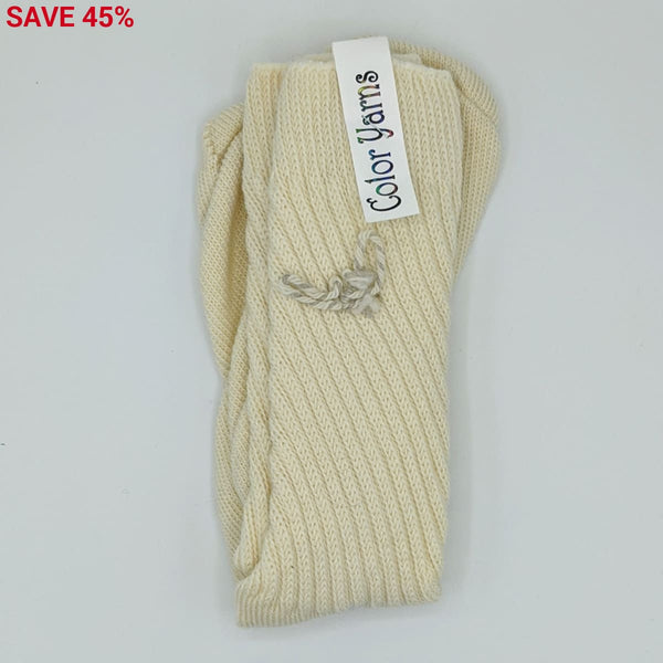 Ladies Socks - Machine Knit - Cream - Handmade