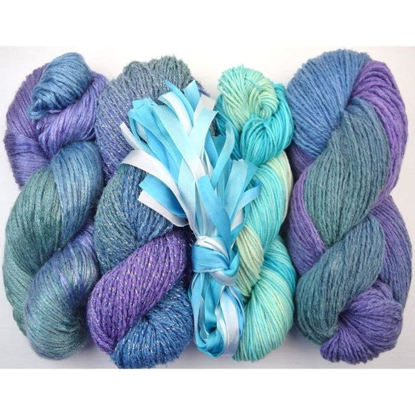 Lengthwise Shawl - Aqua - Knitting Kit