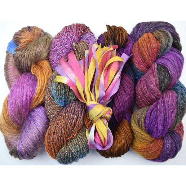 Lengthwise Shawl - Clematis - Knitting Kit