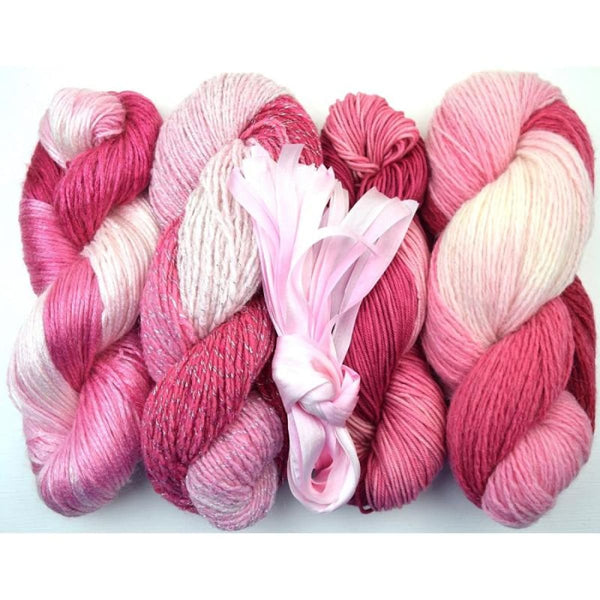 Lengthwise Shawl - Pink Dream - Knitting Kit
