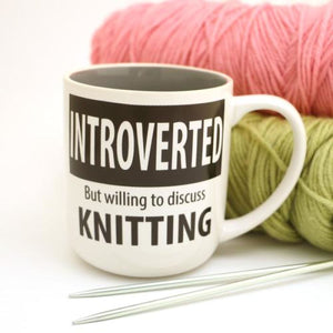 Lenny Mud Introverted Knitting Mug - Accessory