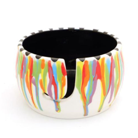 Lenny Mud Rainbow Drips Yarn Bowl - Accessory