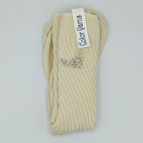 Mens Socks - Machine Knit - Cream Liteweight - Handmade