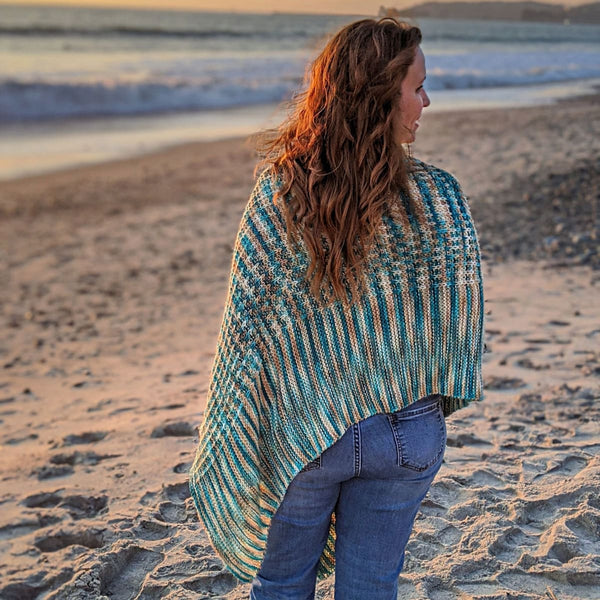 Sand & Sea Poncho - Knitting Kit
