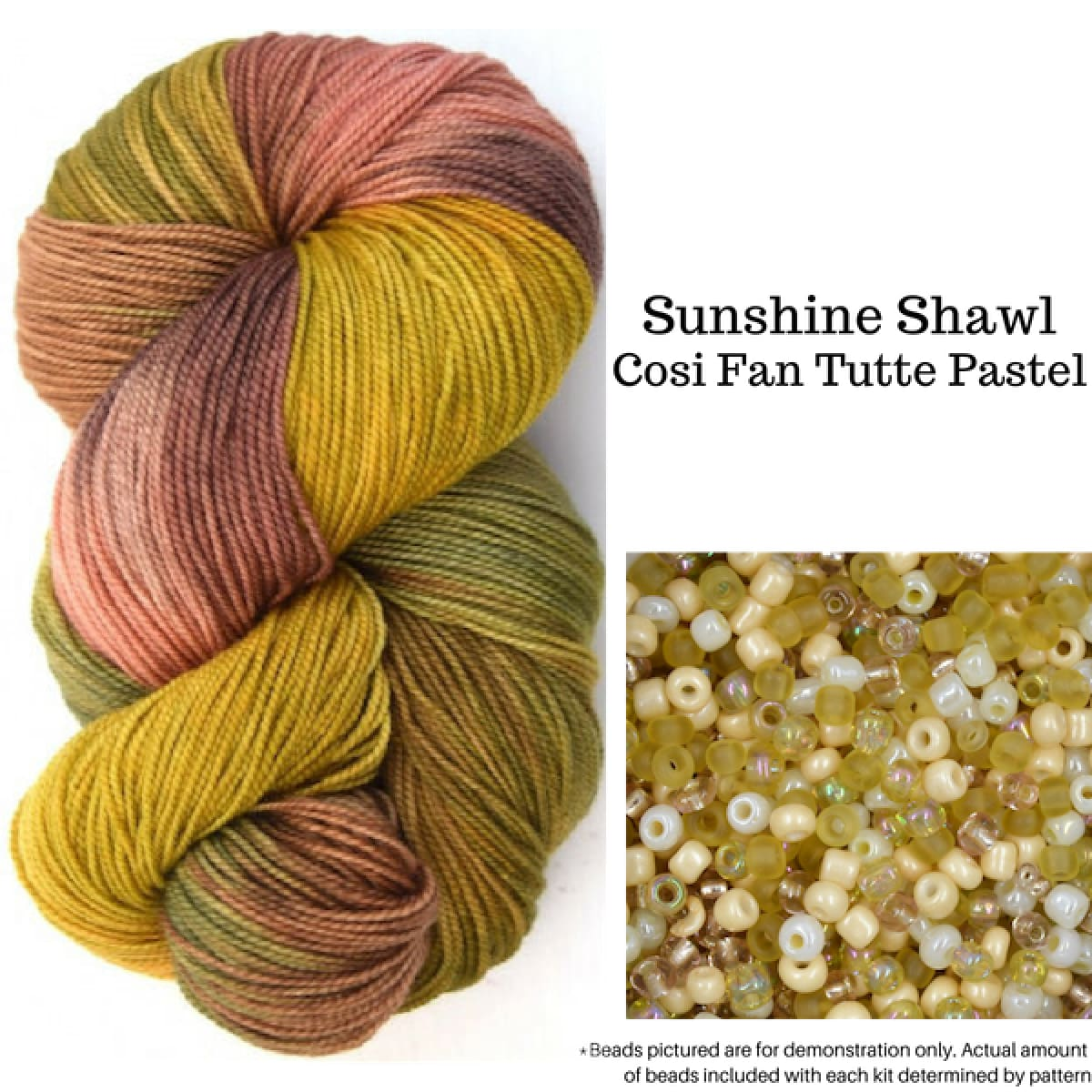 Sunshine Shawl - Cosi Fan Tutte Pastel - Knitting Kit