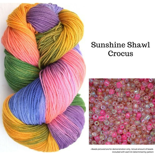 Sunshine Shawl - Crocus - Knitting Kit