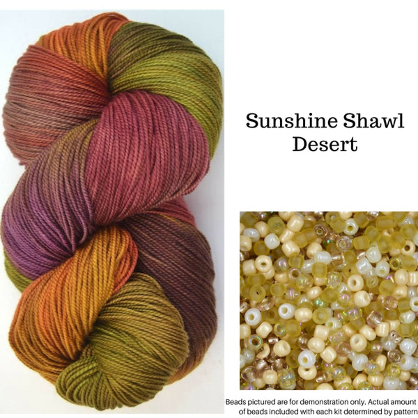 Sunshine Shawl - Desert - Knitting Kit