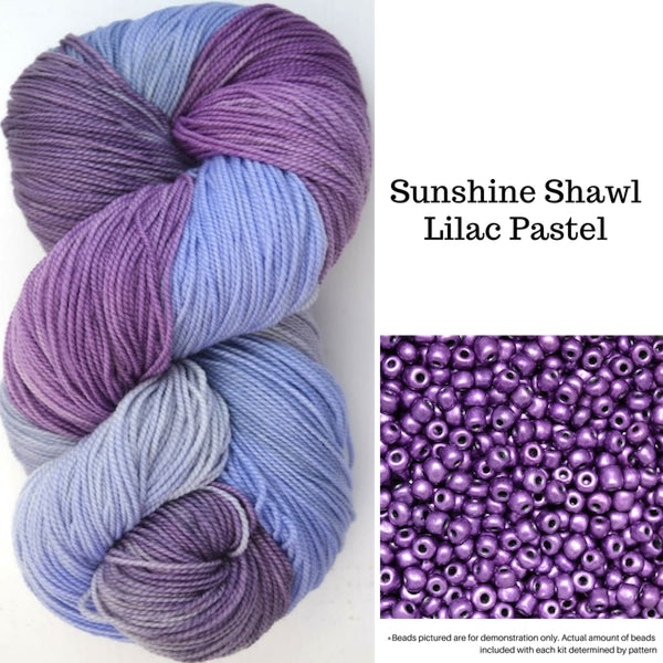 Sunshine Shawl - Lilac Pastel - Knitting Kit