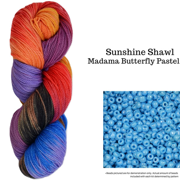 Sunshine Shawl - Madama Butterfly - Knitting Kit