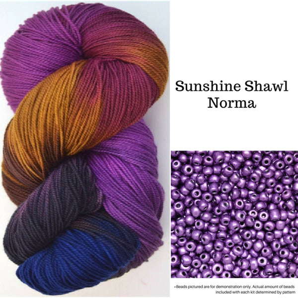Sunshine Shawl - Norma - Knitting Kit