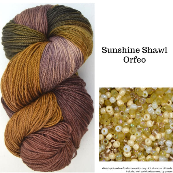 Sunshine Shawl - Orfeo - Knitting Kit