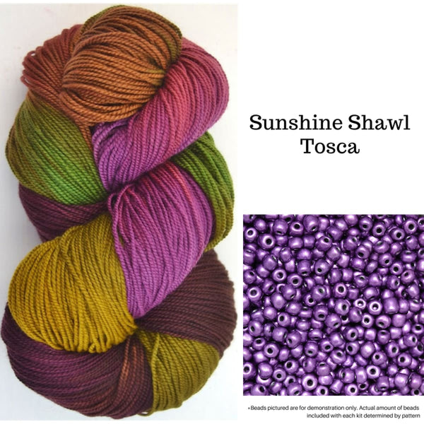Sunshine Shawl - Tosca - Knitting Kit