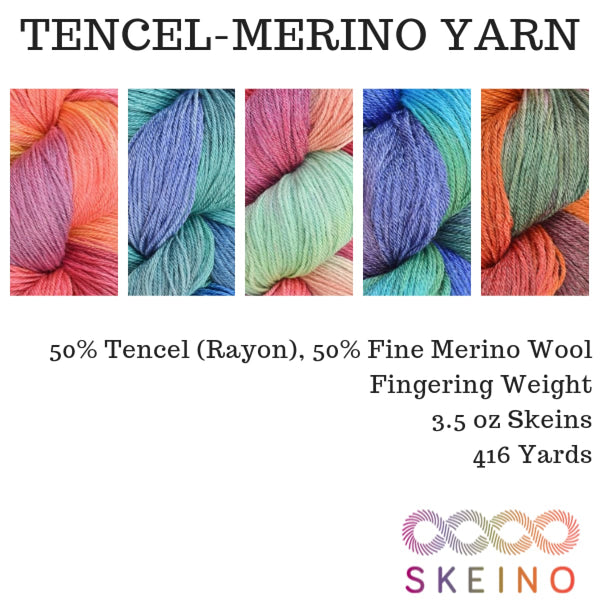 TENCEL-MERINO - Fingering Weight - YARN