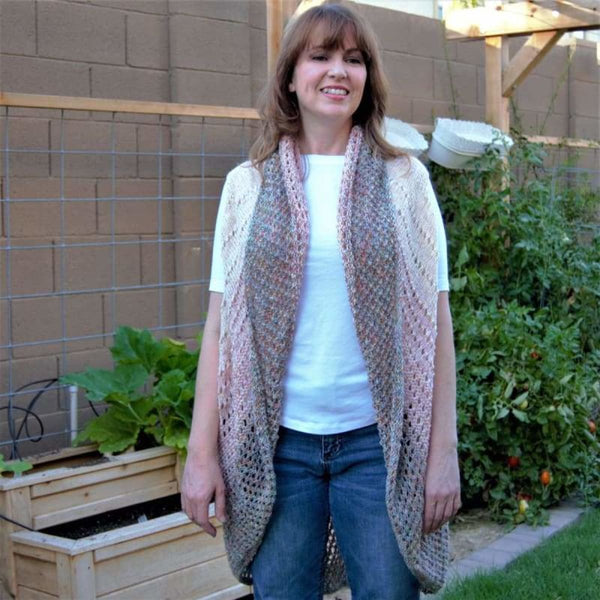Watercolor Shrug Pattern - Pattern