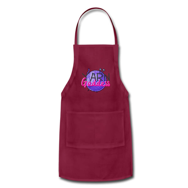 Yarn Goddess Adjustable Apron - burgundy - Adjustable Apron