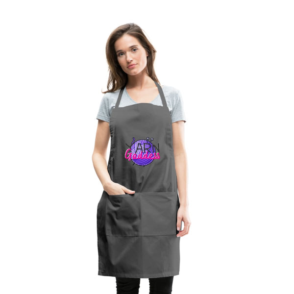 Yarn Goddess Adjustable Apron - charcoal - Adjustable Apron