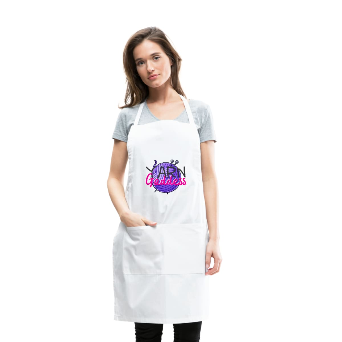 Yarn Goddess Adjustable Apron - white - Adjustable Apron