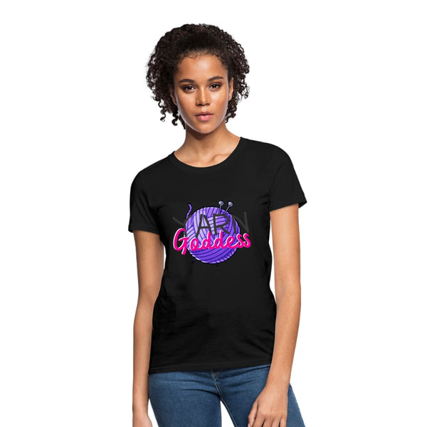 Yarn Goddess Womens T-Shirt - black / S - Womens T-Shirt