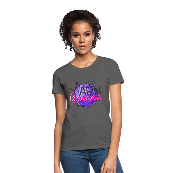 Yarn Goddess Womens T-Shirt - charcoal / S - Womens T-Shirt