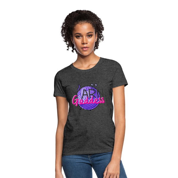 Yarn Goddess Womens T-Shirt - heather black / S - Womens T-Shirt