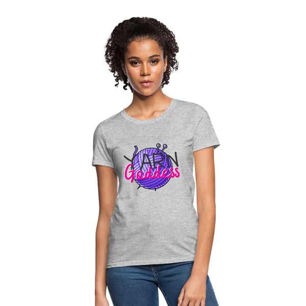 Yarn Goddess Womens T-Shirt - heather gray / S - Womens T-Shirt