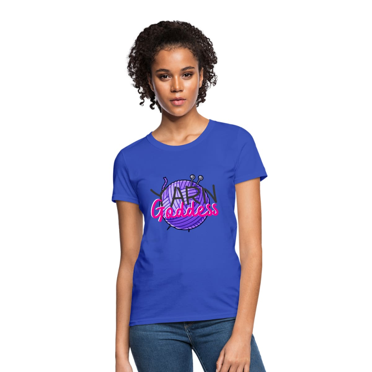 Yarn Goddess Womens T-Shirt - royal blue / S - Womens T-Shirt