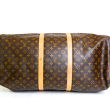 Load image into Gallery viewer, LOUIS VUITTON Monogram Canvas Leather Keepall 60