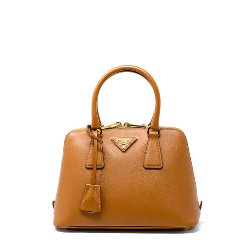 PRADA Saffiano Vernice Leather Mini Top Handle Bag