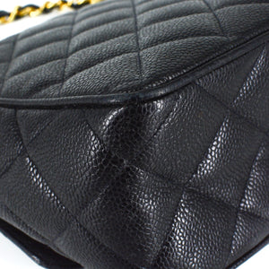 CHANEL Quilted Caviar Classic Flap