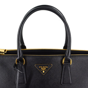PRADA Galleria Saffiano Leather Bag - Large (Black)
