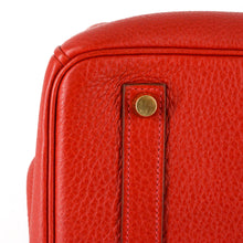 Load image into Gallery viewer, HERMES Birkin 35 Red Clemence Leather Bag