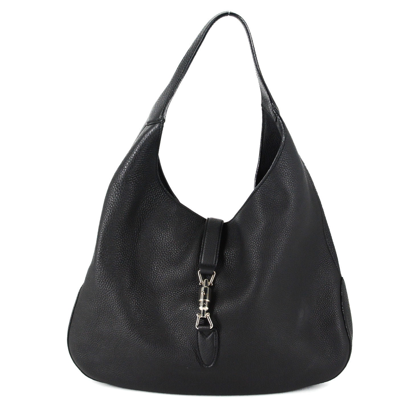 df0be69a7 Please try a little later. Fine, Take Me Back. ×. GUCCI Soft Leather Hobo  Bag in Black