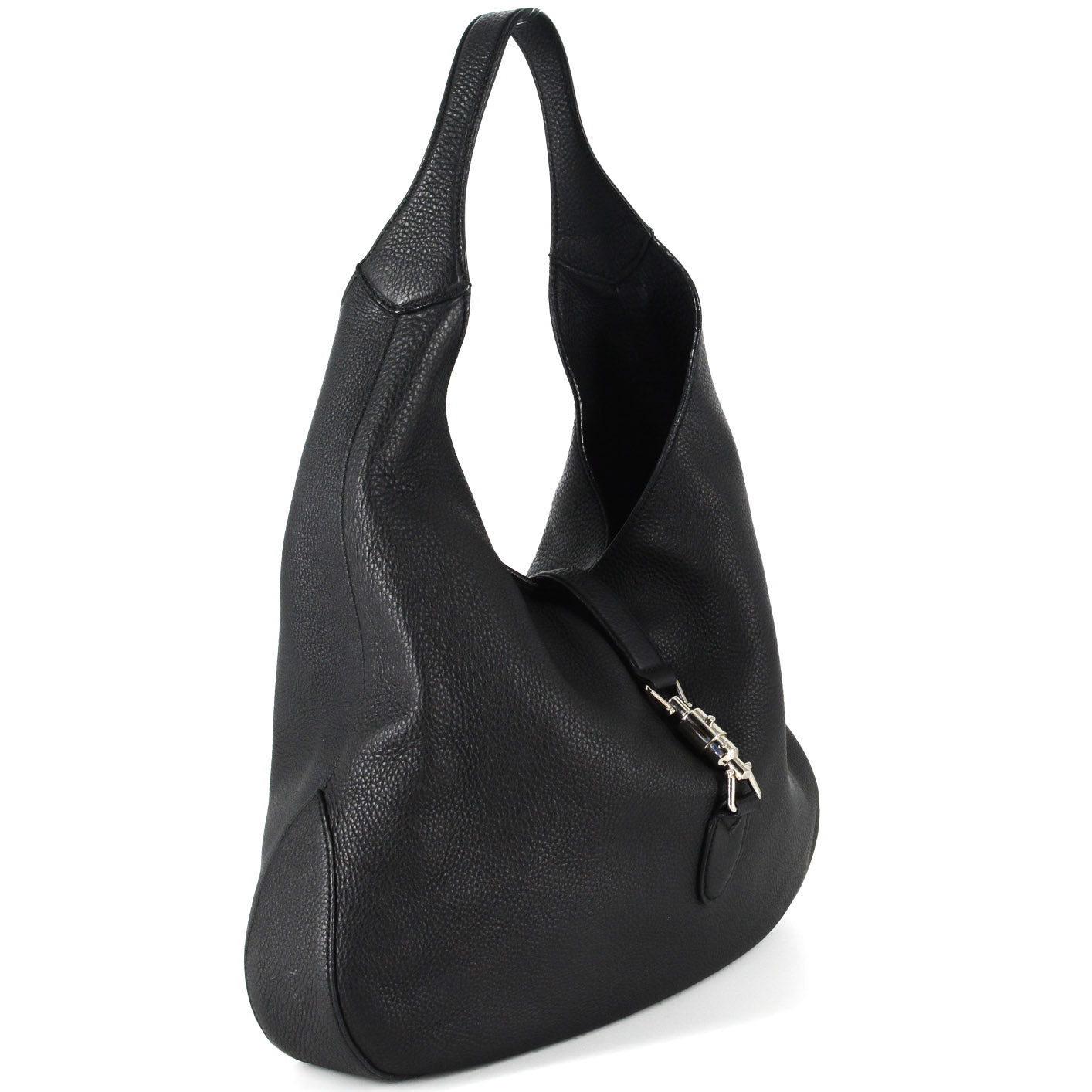 5a9c37709 ... Load image into Gallery viewer, GUCCI Soft Leather Hobo Bag in Black ...